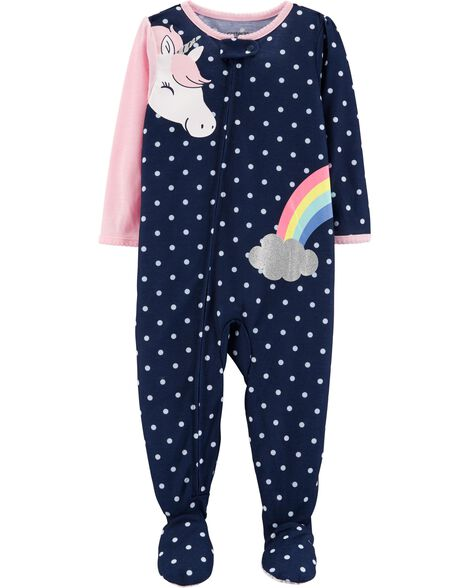 c7045a1df 1-Piece Unicorn Footed Poly PJs | Carters.com