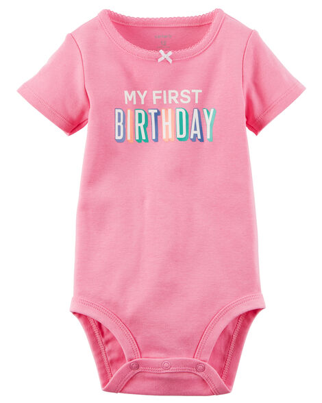 Images My First Birthday Collectible Bodysuit