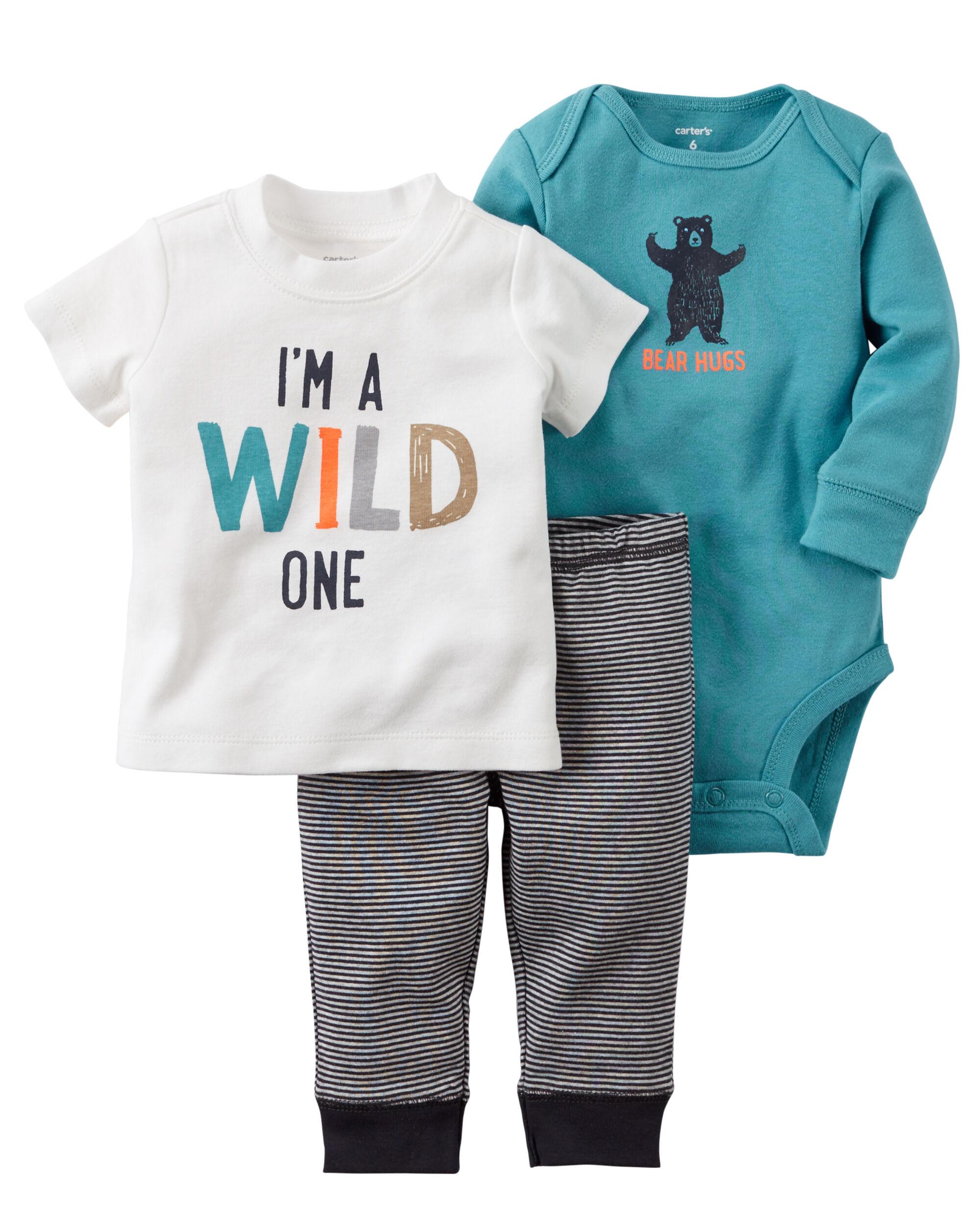 3 Piece Babysoft Bodysuit & Pant Set