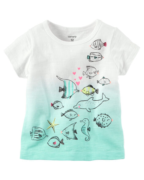 3d2afe5eb44 Sea Creature Glitter Graphic Tee