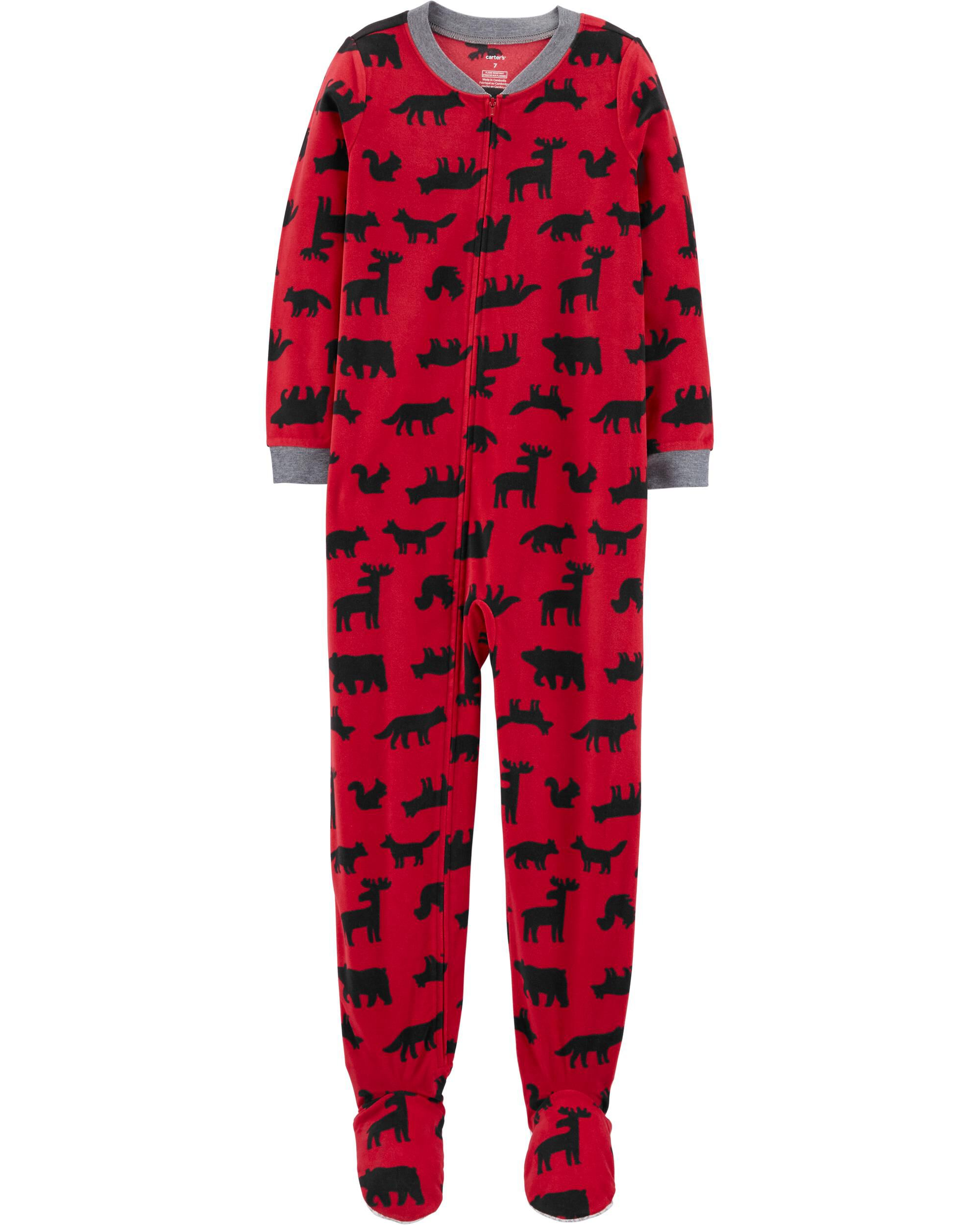 New Toddler Boy Carter/'s 1-Piece Woodland Creatures Fleece Footie PJs 3T 4T 5T