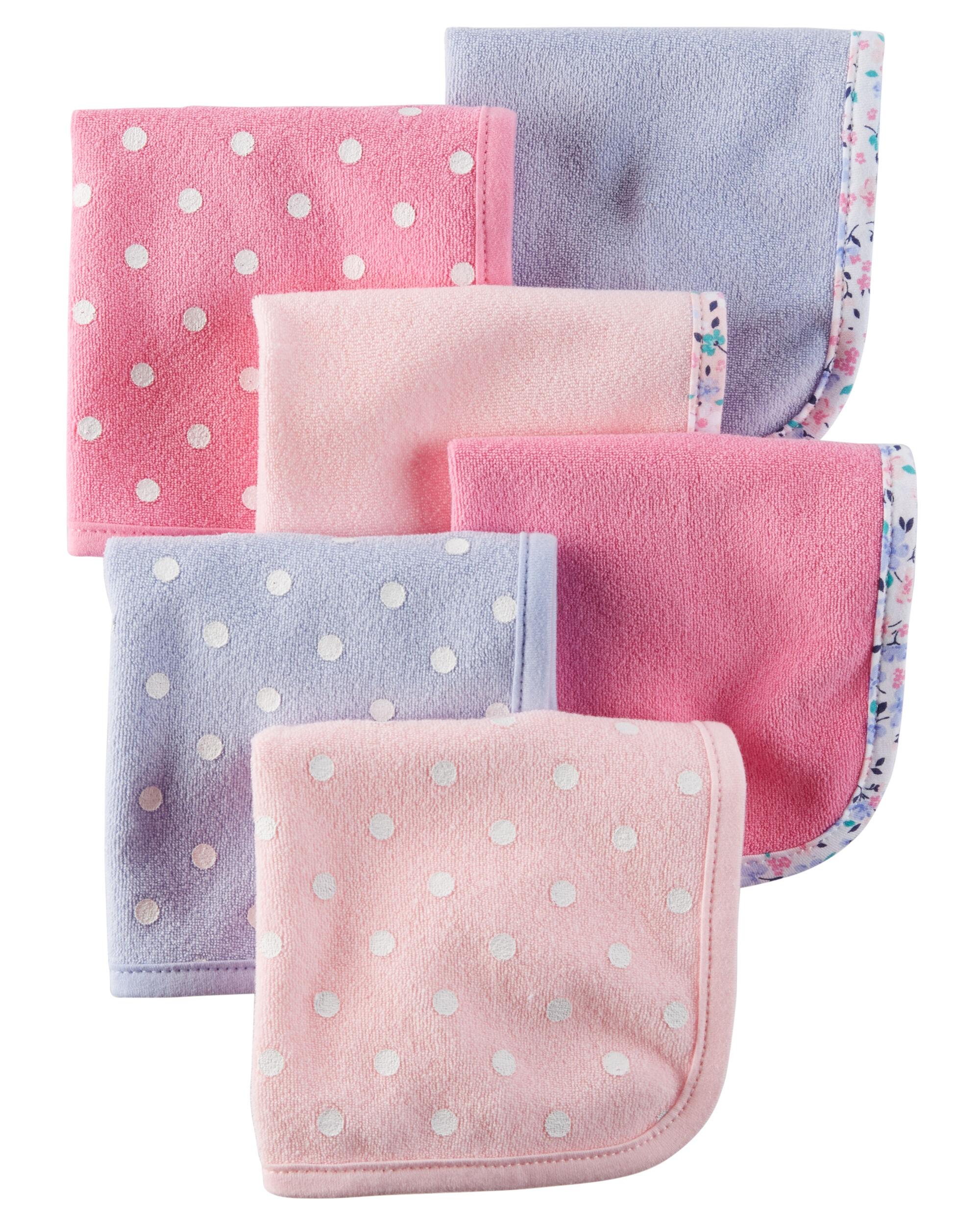 Wash Cloths As Burp Cloths: 6-Pack Terry Washcloths