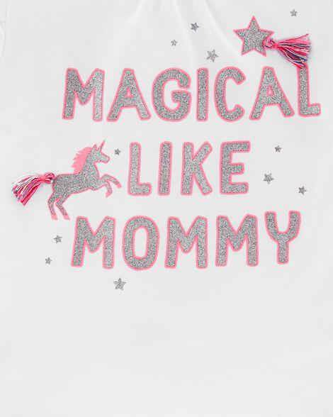 Magical Unicorn Tulip-Sleeve Hi-Lo Tee