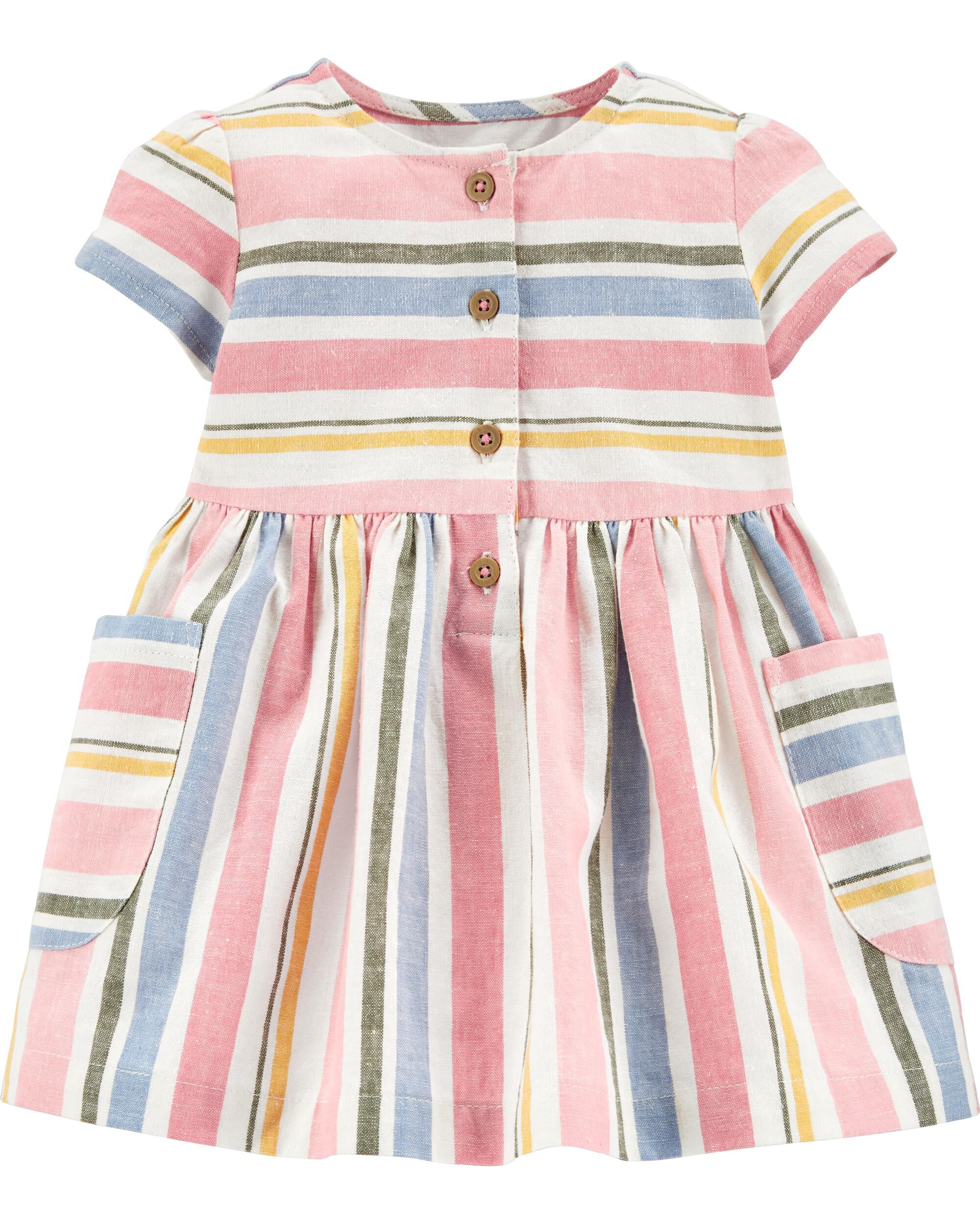*CLEARANCE* Striped Linen Dress