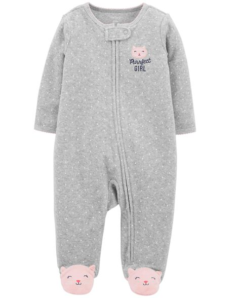 Kitty Zip-Up Terry Sleep & Play