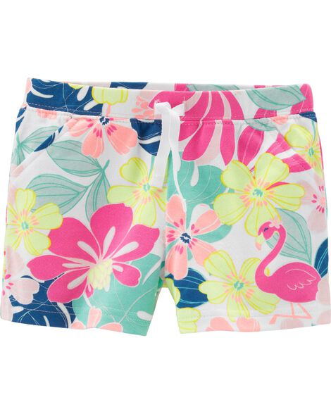 Tropical French Terry Shorts