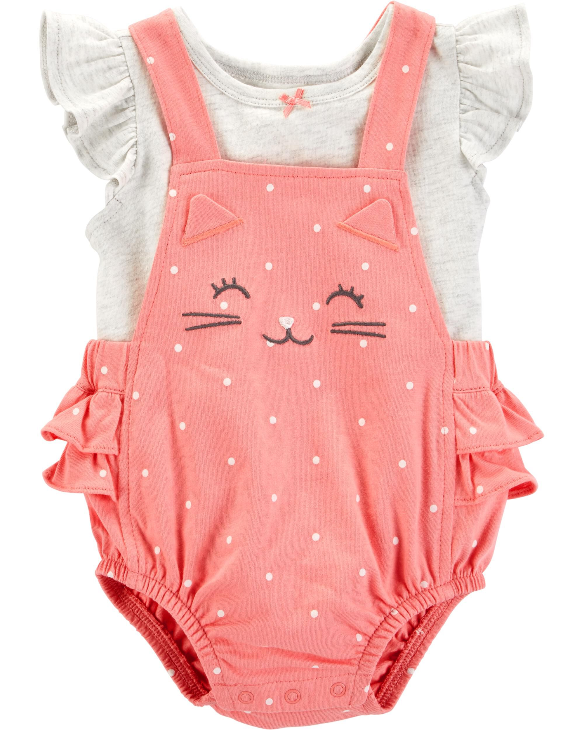 92bf66d25 2-Piece Tee & Bubble Romper Set | Carters.com