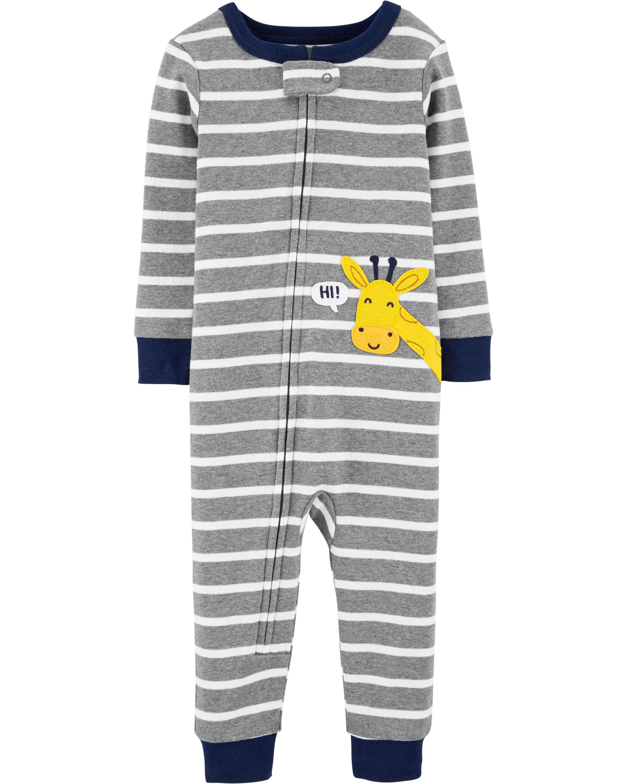 Carters 4-Piece Giraffe Snug Fit Cotton PJs