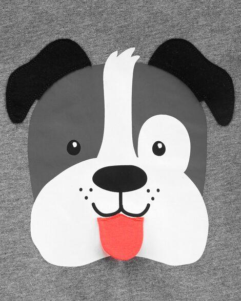 2-Piece Dog Jersey Tee & Striped Short Set