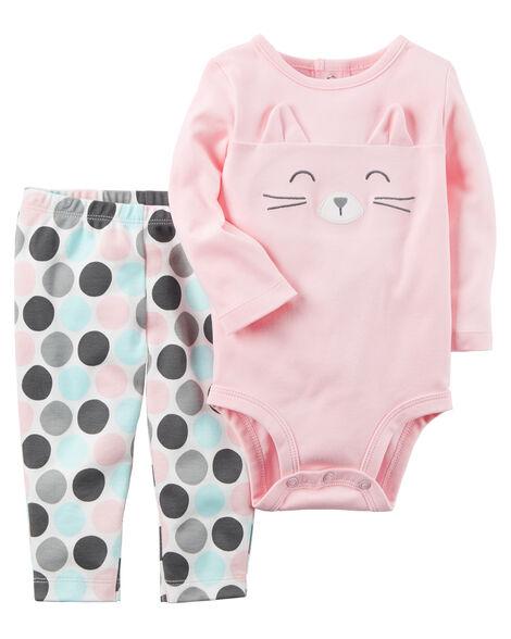 4c698f3c724e 2-Piece Bodysuit Pant Set