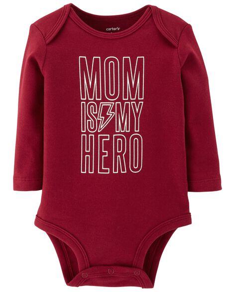 f7eb23dee Mom Is My Hero Collectible Bodysuit | Carters.com
