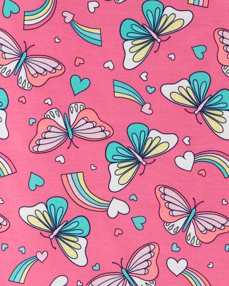 Neon Butterfly Cold Shoulder Slub Dress