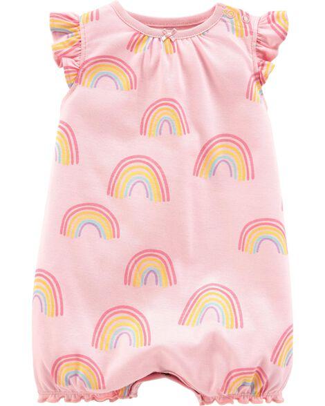 da2f25689b08 Baby Girl Rainbow Bubble Romper