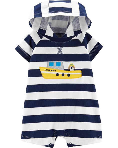 c3a6c97bf Steam Boat Hooded Romper ...