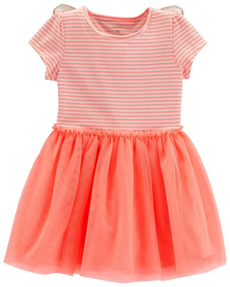 6e9bda795c03 Toddler Girl Neon Butterfly Tutu Dress | Carters.com