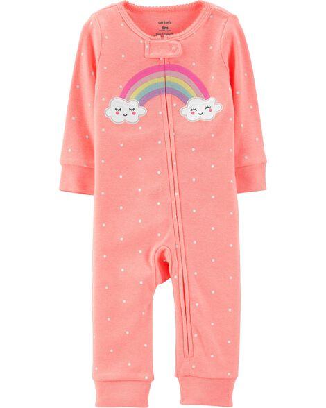 902e14e9b65a Rainbow Zip-Up Footless Sleep   Play