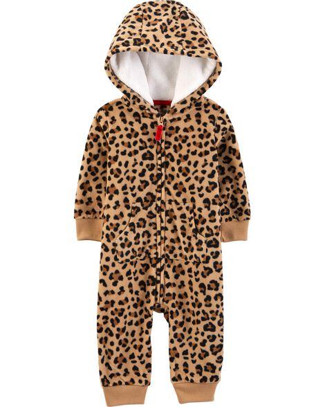 a5102fd50 Leopard Hooded Fleece Jumpsuit