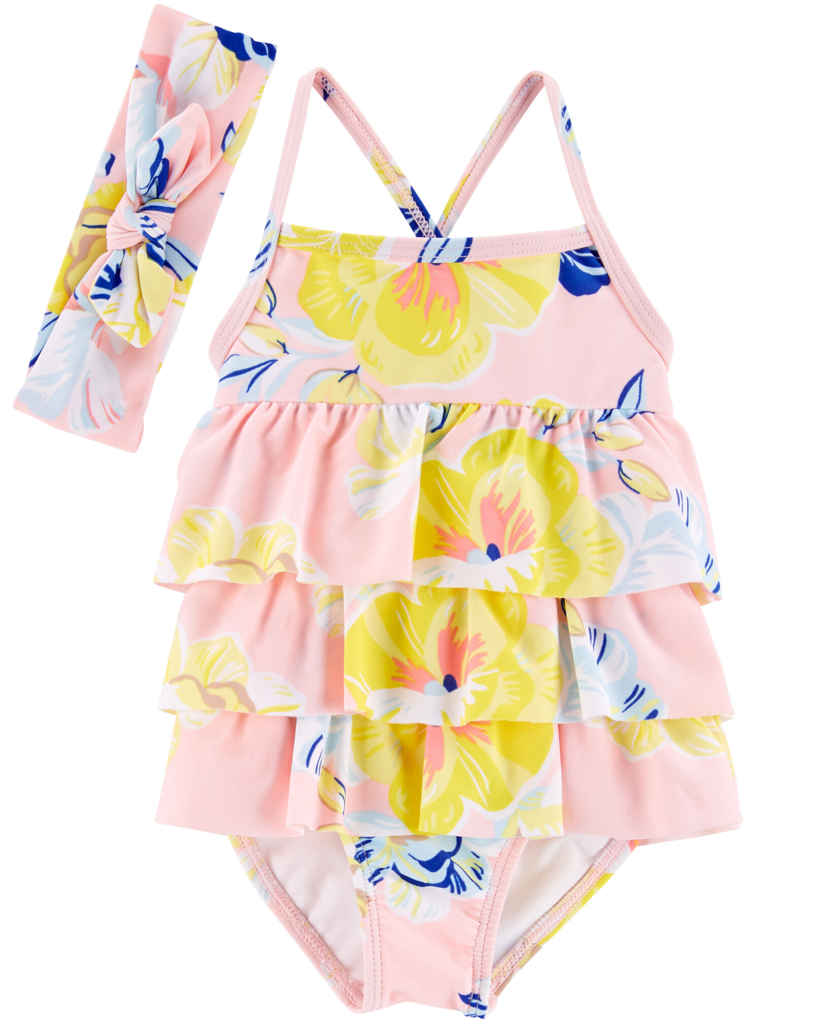 Carters Girls One Piece Tie Dye Swimsuit