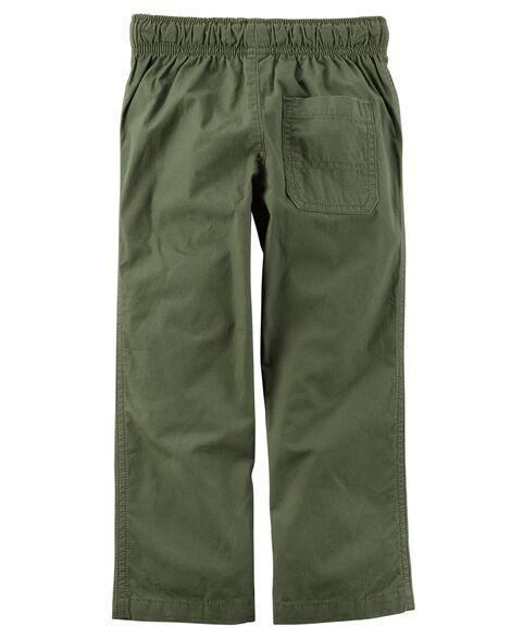 Pull-On Poplin Pants
