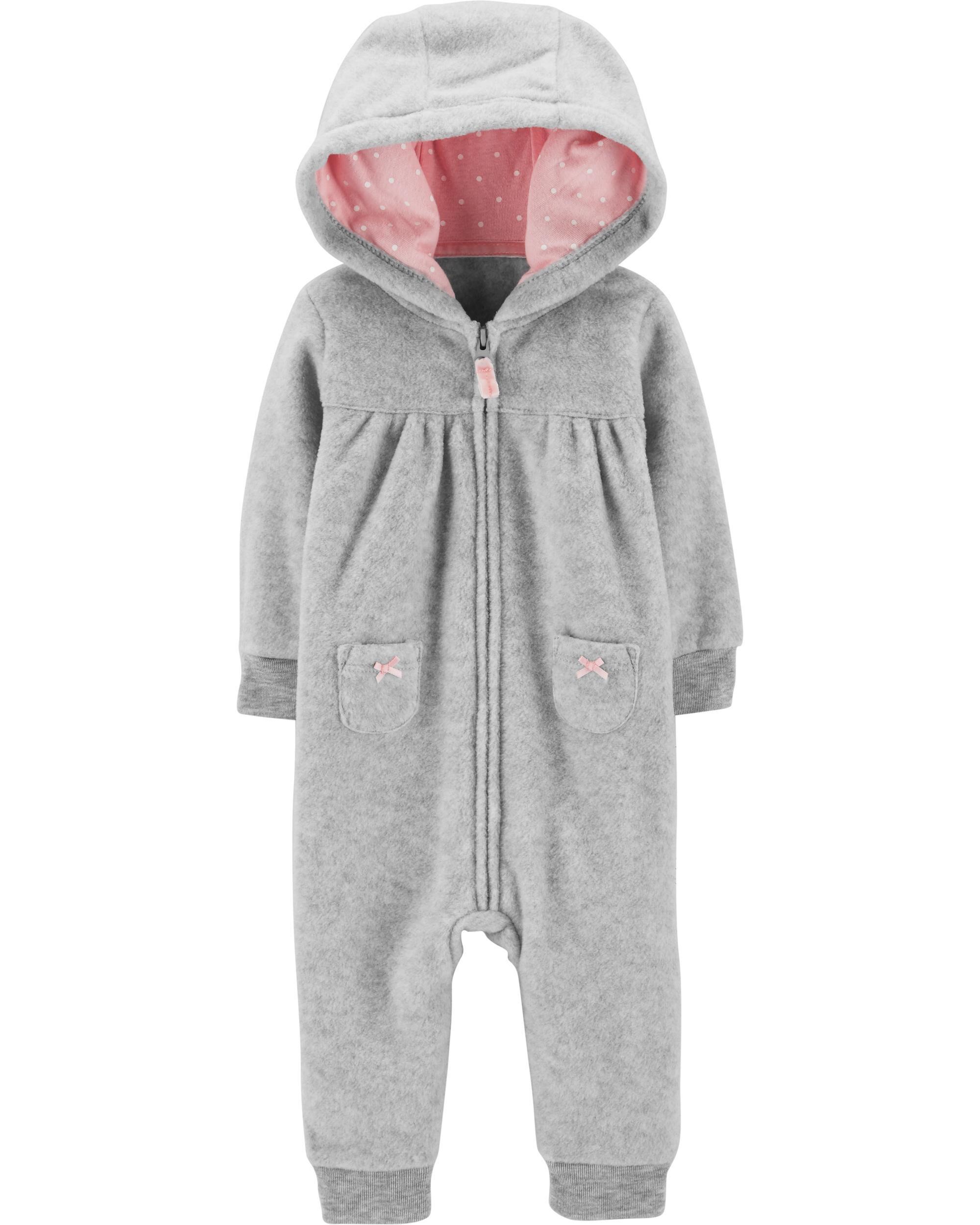 ed6337d7e Koala Hooded Fleece Jumpsuit