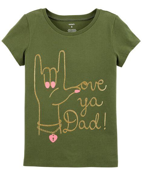 f172ab44 Glitter Love Ya Dad Jersey Tee | Carters.com