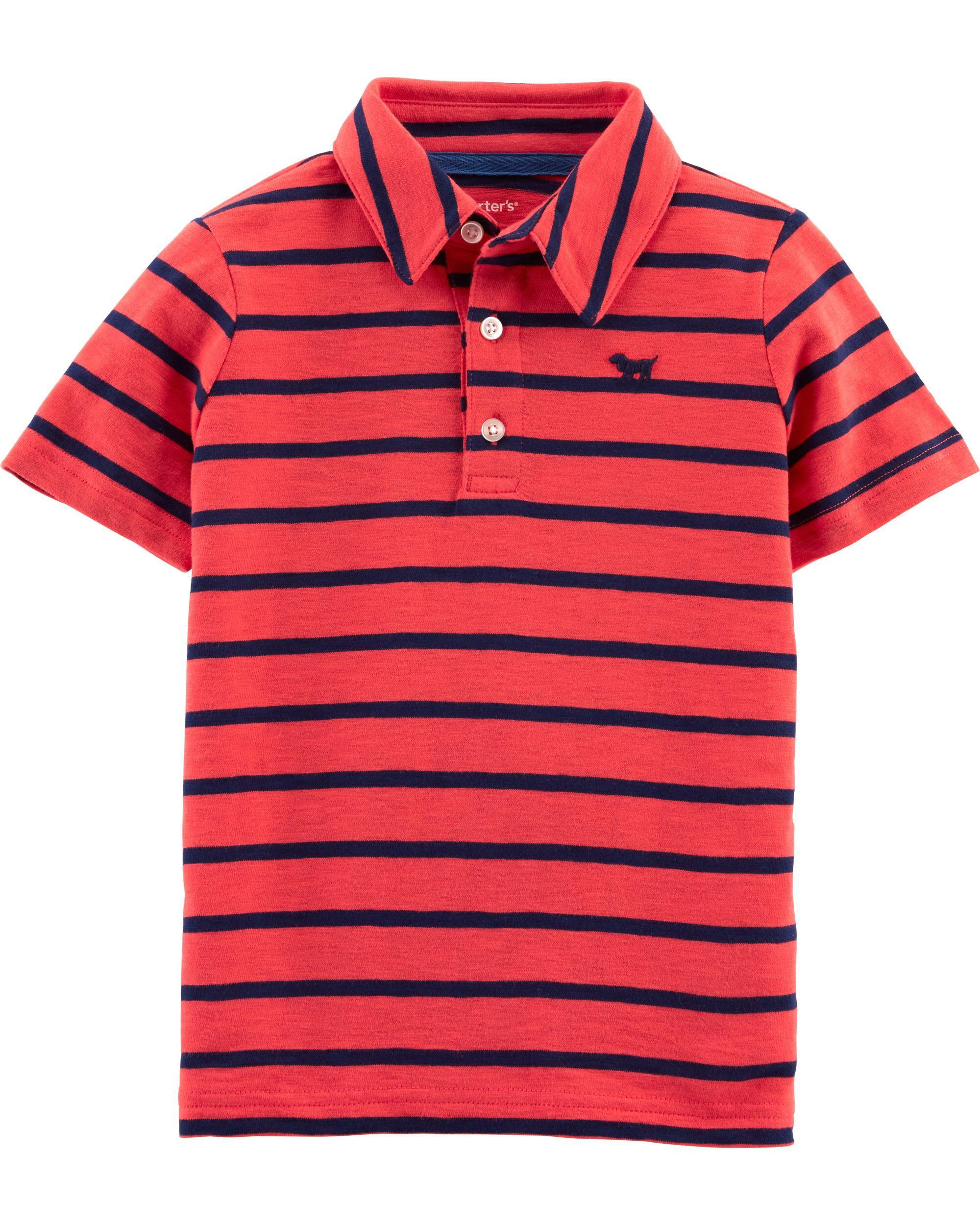 dd1a45416 Striped Dog Slub Jersey Polo   Carters.com