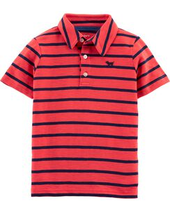 cd093522a039bc Striped Dog Slub Jersey Polo