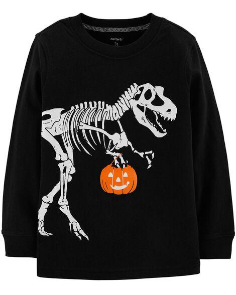 161797527 Glow-In-The-Dark Dinosaur Halloween Tee | Carters.com