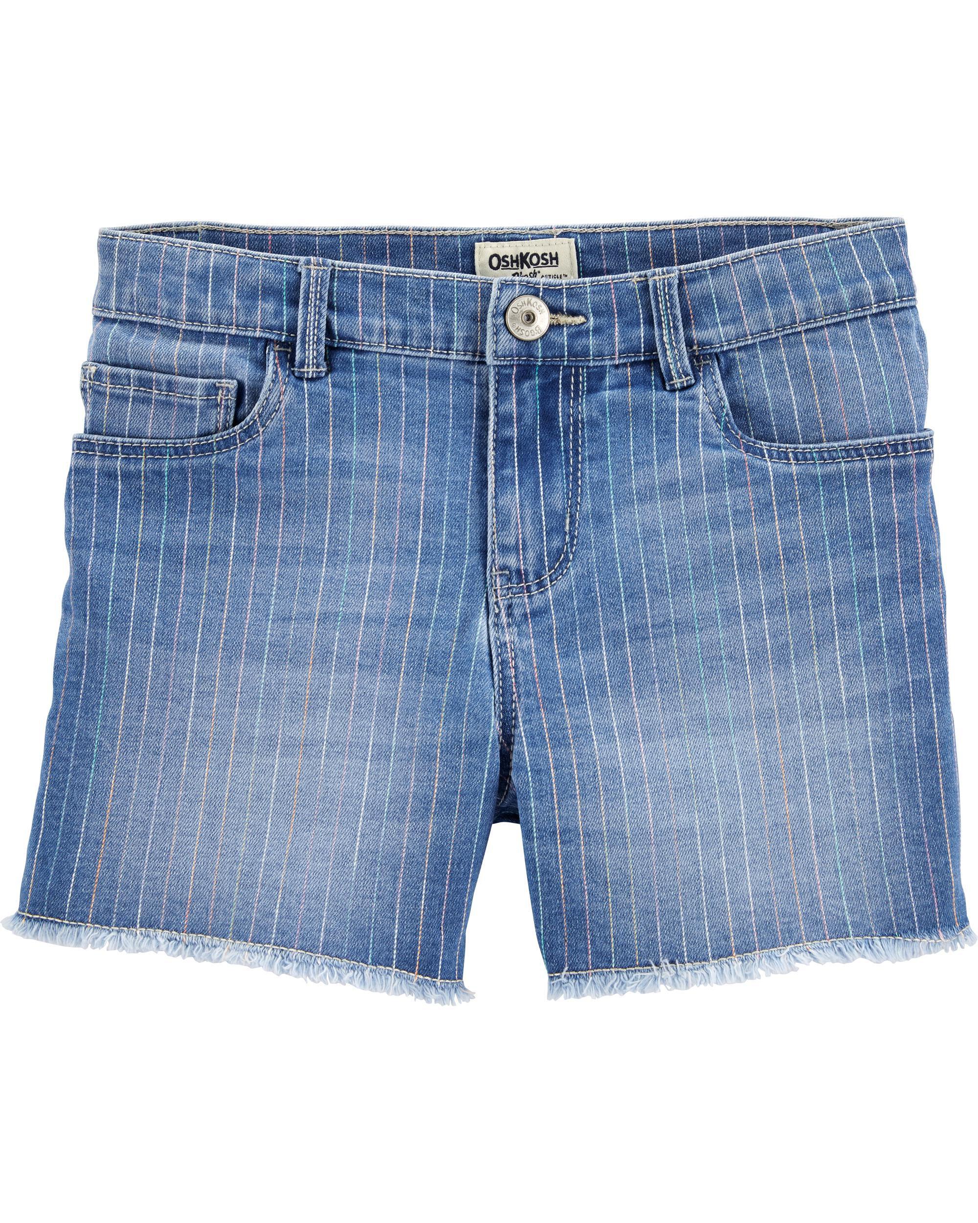 *CLEARANCE* Rainbow Stretch Denim Shorts