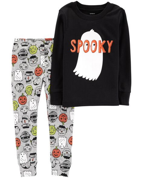 2-Piece Halloween Snug Fit Cotton PJs | Tuggl