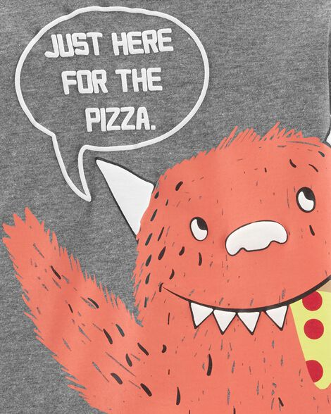 Pizza Monster Layered-Look Tee