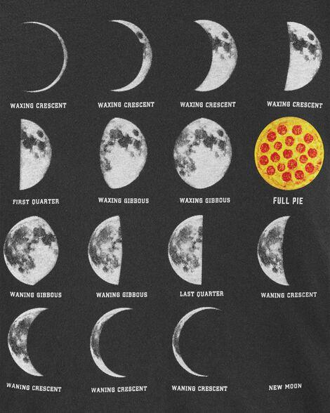 Pizza Moon Phase Jersey Tee