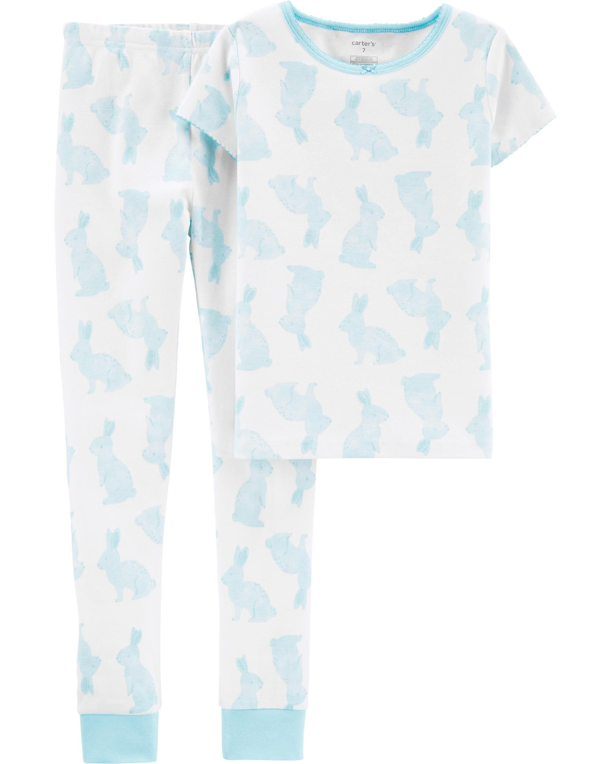 *DOORBUSTER* 2-Piece Bunny Snug Fit Cotton PJs