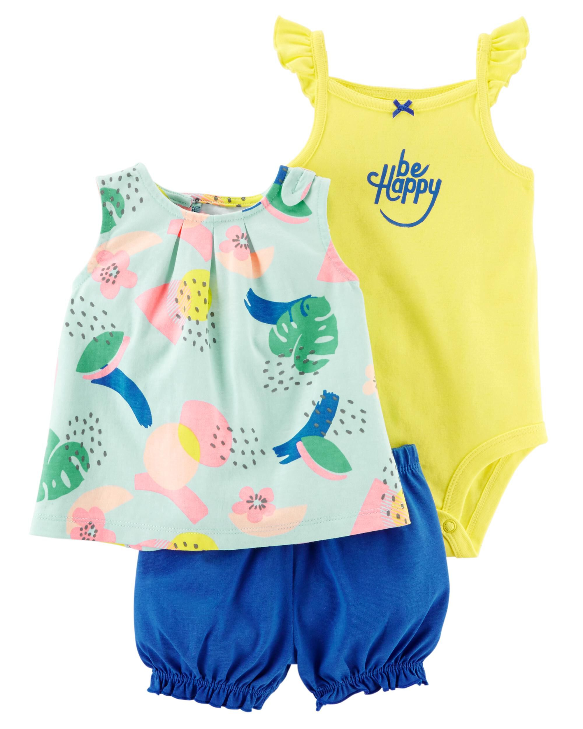 Carter's Baby Girl Skirt 6m Tropical Skirt With Built In Pants Free P+p Big Clearance Sale Girls' Clothing (0-24 Months)
