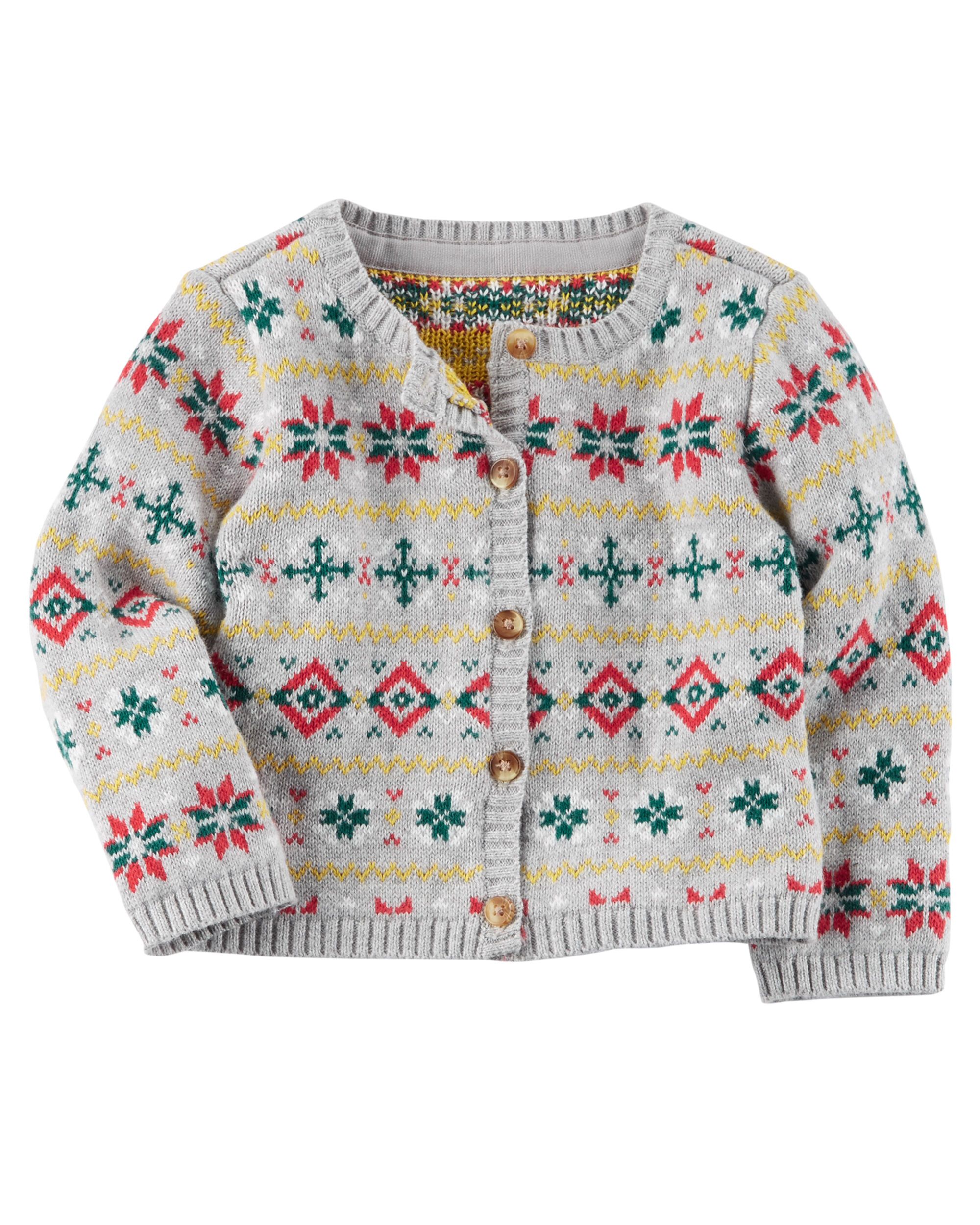 Fair Isle Knit Cardigan | Carters.com