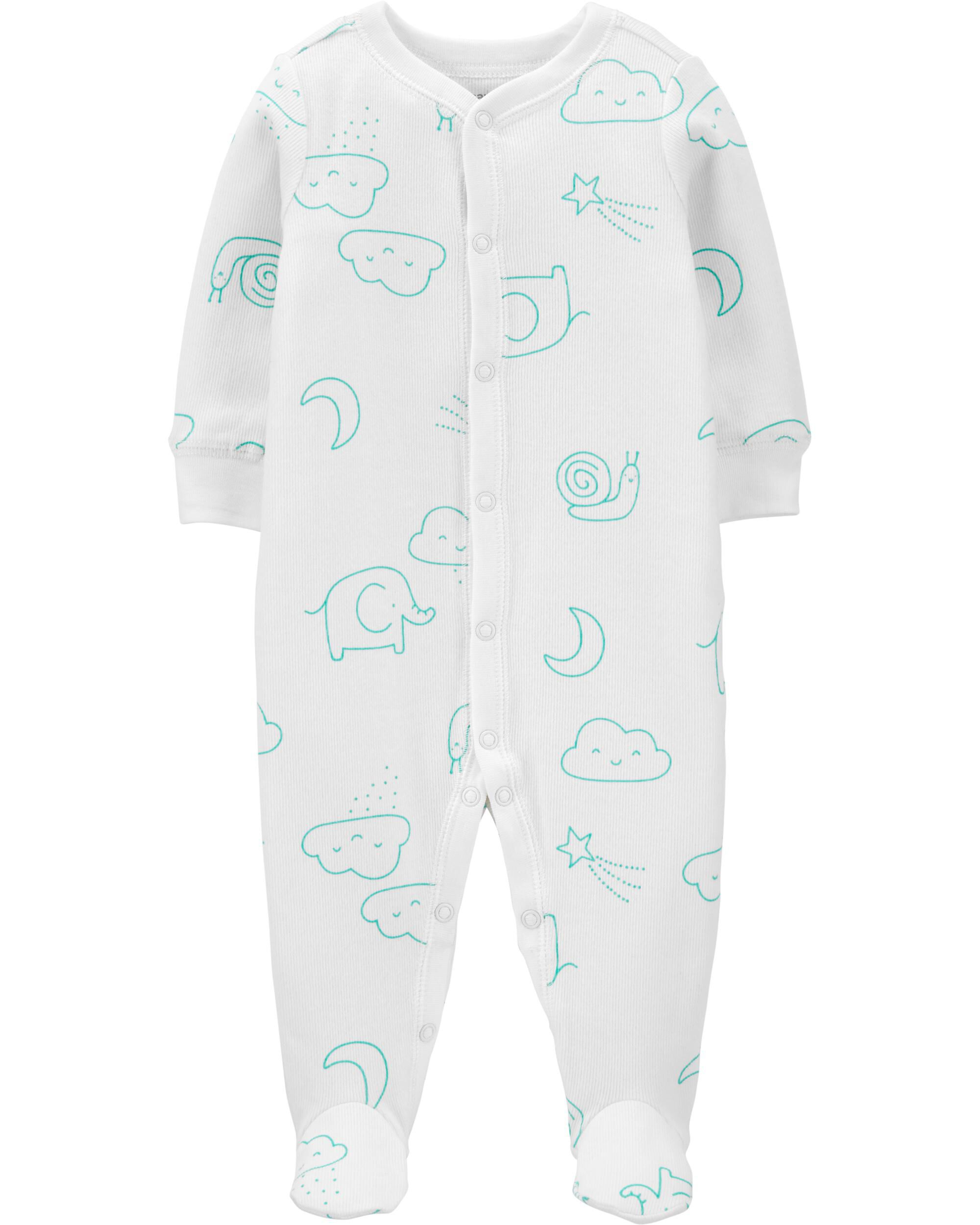 *DOORBUSTER* Elephant Snap-Up Cotton Sleep & Play