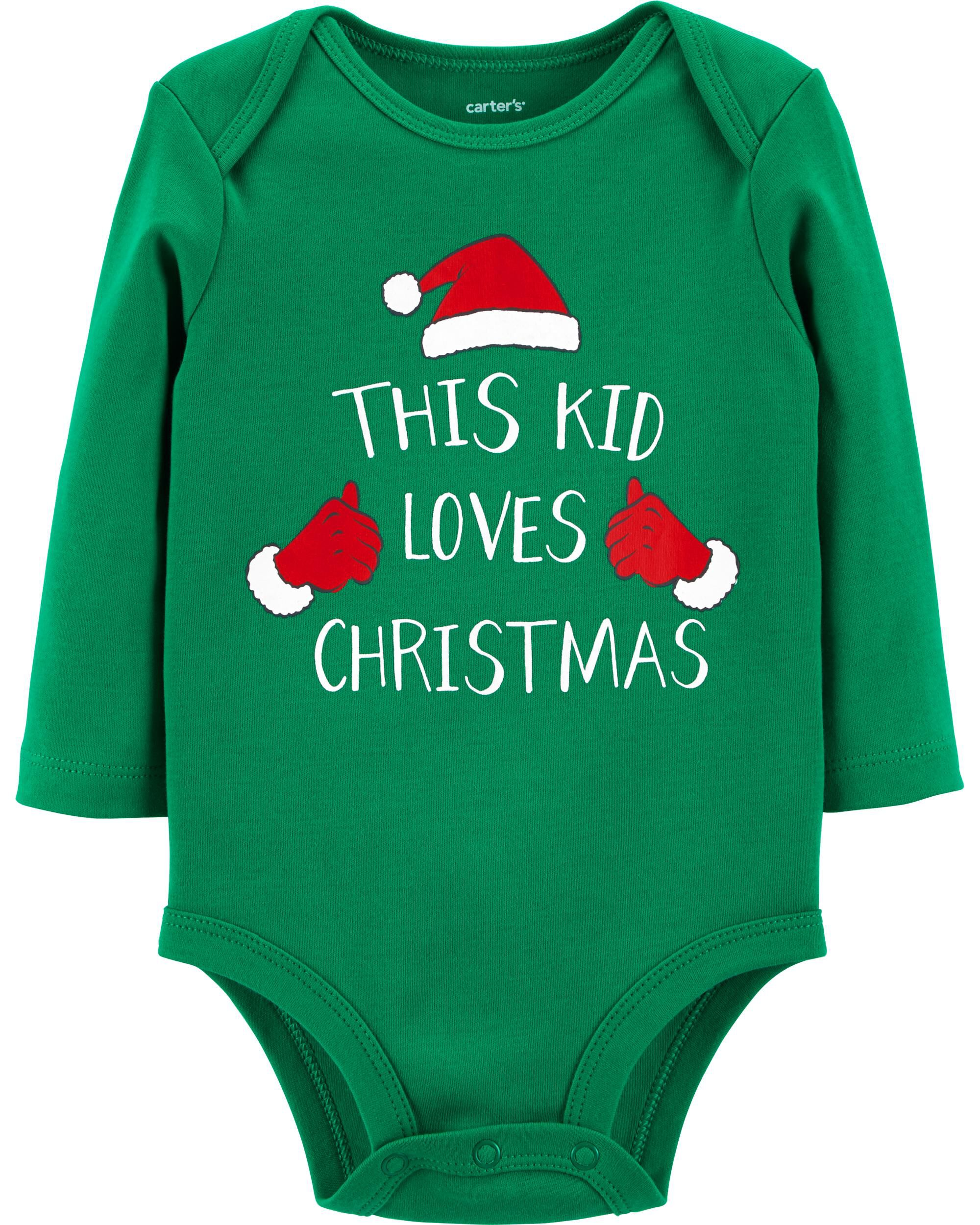baby girl christmas collectible bodysuit carters com