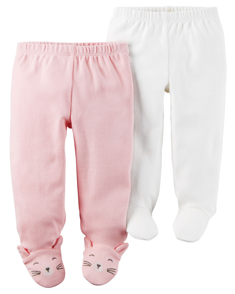 Carter/'s 6 month Footed Pink and Blue pants
