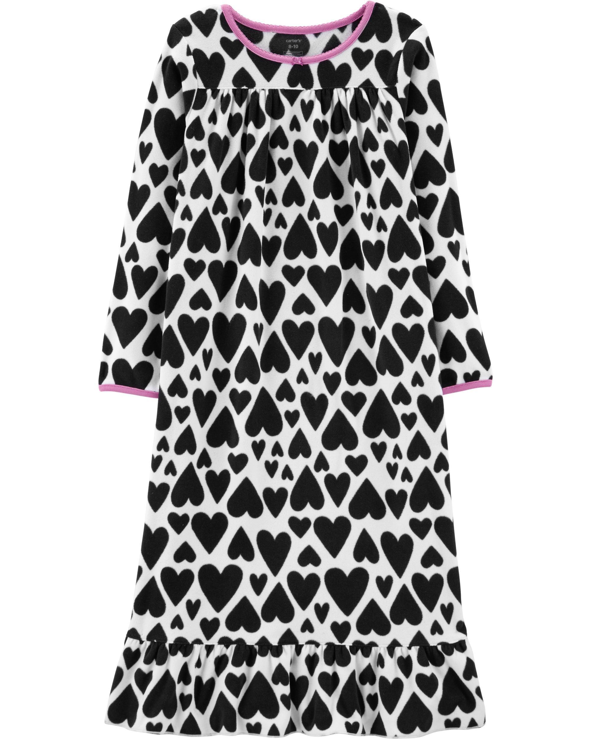 Heart Fleece Sleep Gown   Carters.com