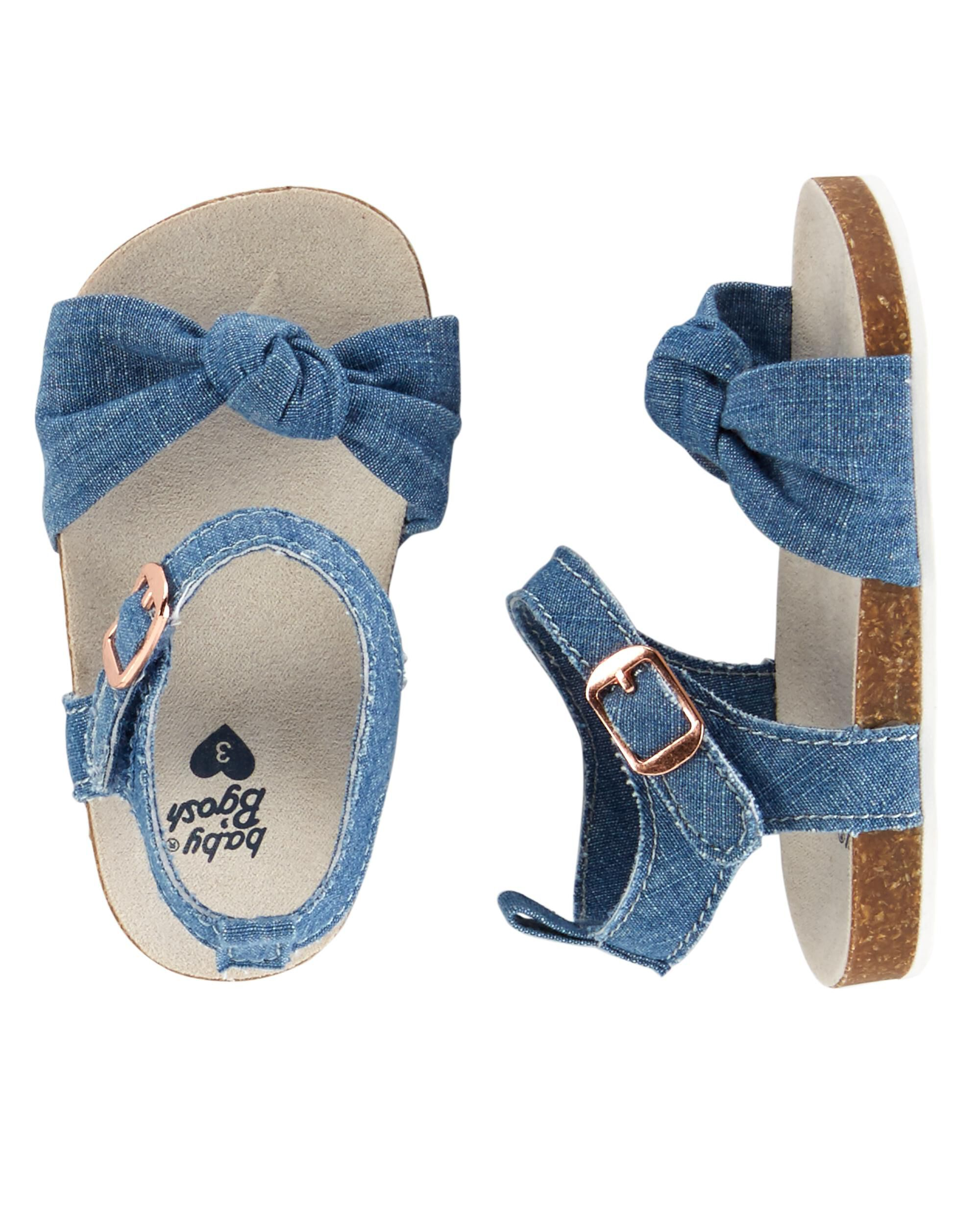 Baby Girl OshKosh Chambray Sandal Crib Shoes