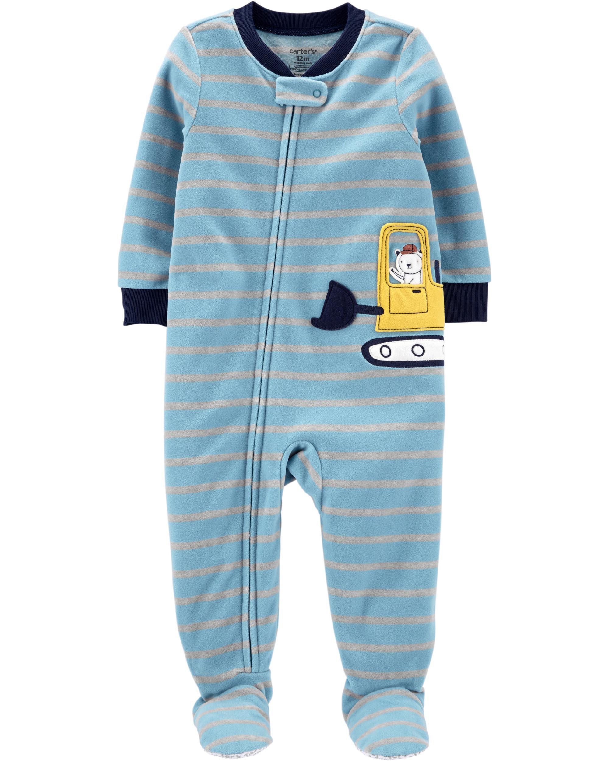 *CLEARANCE* 1-Piece Construction Fleece Footie PJs