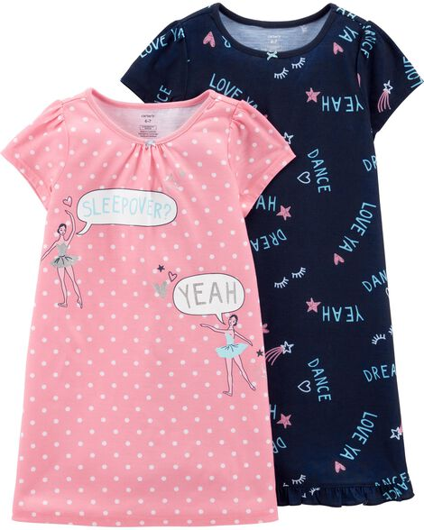 Images. 2-Pack Ballerina Nightgowns 8bd6e8c33