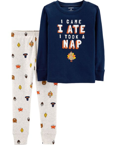 fc949c7887db 2-Piece Thanksgiving Snug Fit Cotton PJs