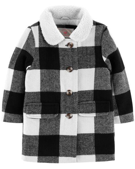 Buffalo Check Faux Wool Jacket