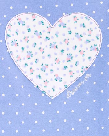 2-Piece Heart Fleece PJs
