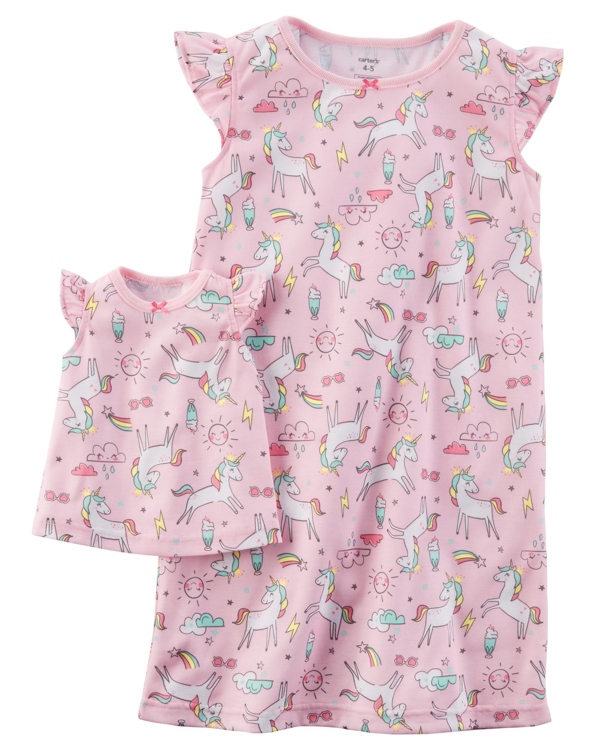 Jersey Gown u0026 Doll Dress Set. Loading zoom  sc 1 st  Carteru0027s & Jersey Gown u0026 Doll Dress Set | Carters.com