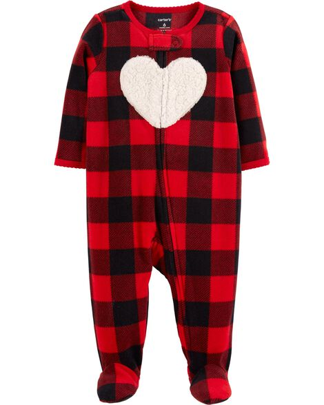 79e9ba7fe Buffalo Check Zip-Up Fleece Sleep   Play