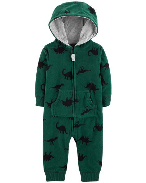 67db6410a5f9 Dinosaur Hooded Fleece Jumpsuit