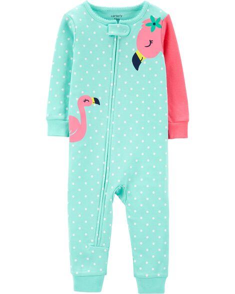 5edd1931e61 1-Piece Flamingo Snug Fit Cotton Footless PJs   Carters.com