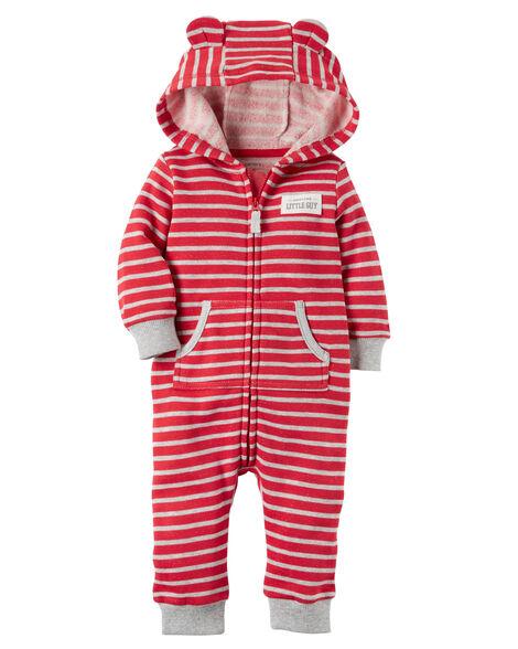 b489a44d4 Hooded Brushed Fleece Jumpsuit